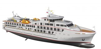 A rendering of ANTARCTICA XXI's new polar expedition vessel MV Magellan Explorer.