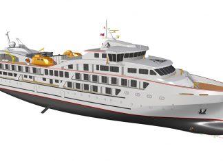 A rendering ofANTARCTICA XXI's new polar expedition vesselMV Magellan Explorer.