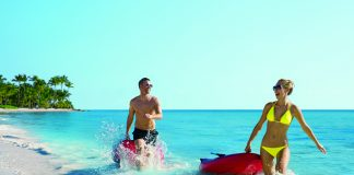Couples can enjoy a variety of watersports at Secrets Cap Cana.