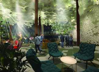 Nightime at Eden, a new venue on board Celebrity Edge.