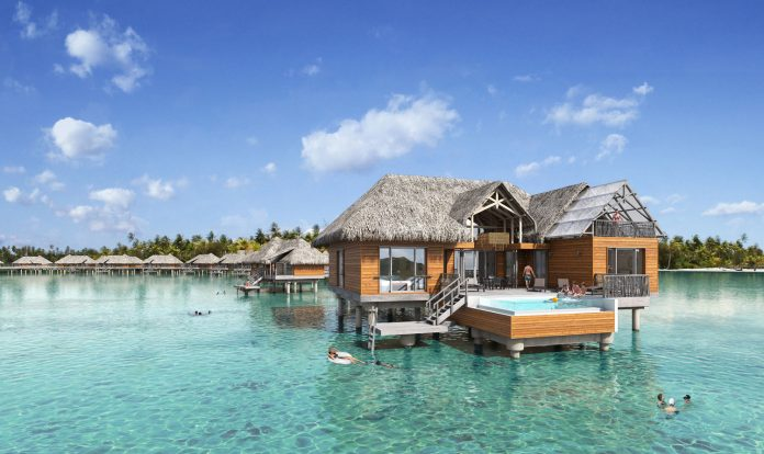 InterContinental Bora Bora Resort & Thalasso Spa unveils overwater villas. (Photo courtesy of InterContinental Bora Bora Resort & Thalasso Spa.)