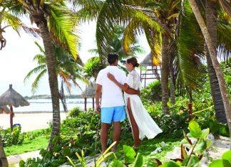 Beachside at the Luxury Bahia Principe Sian Ka'an.