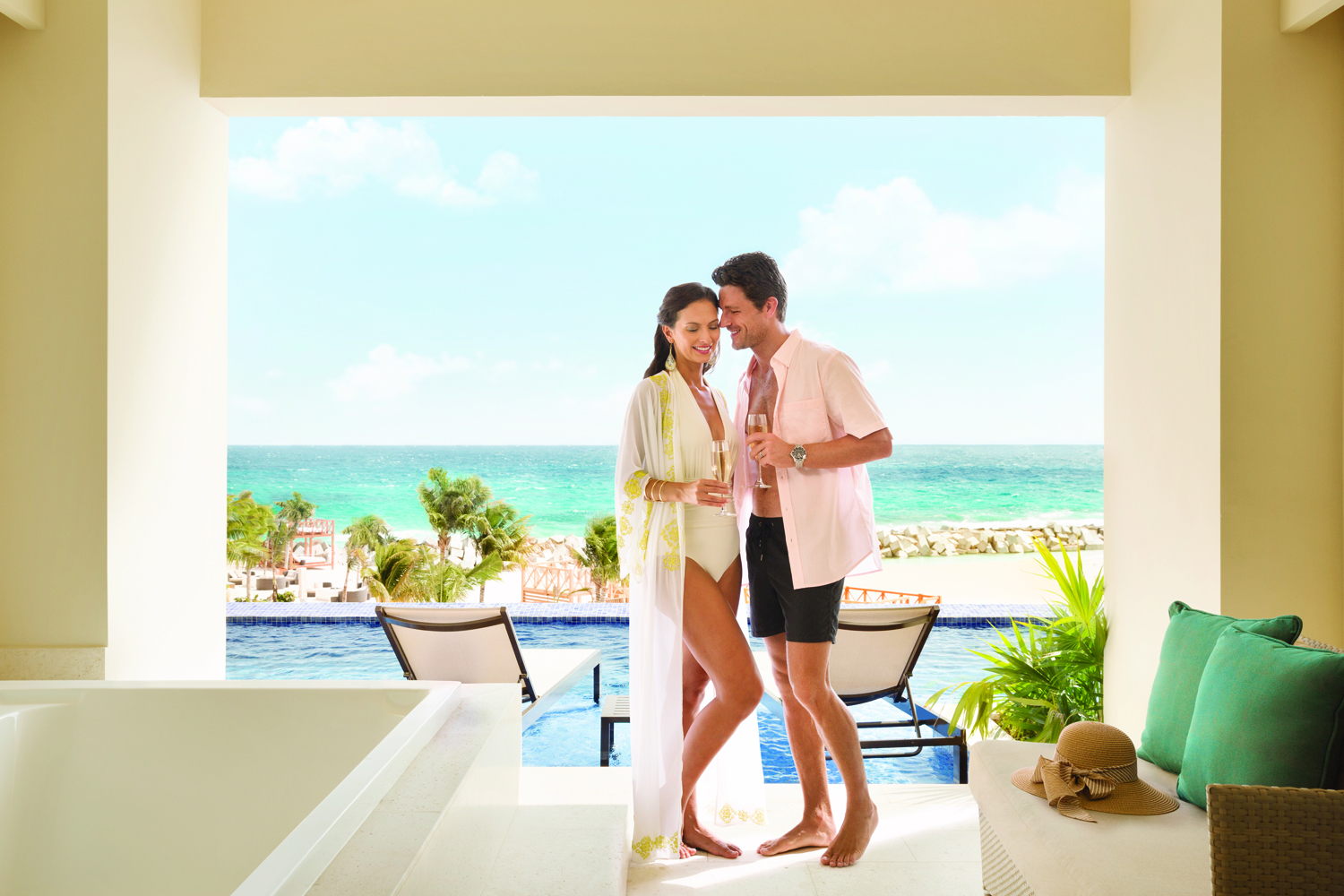 The adults-only Turquoize, the resort within a resort at Hyatt Ziva Cancun, is ideal for clients looking for a relaxing getaway.