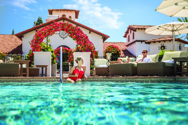 Poolside at the Omni La Costa Resort & Spa in Carlsbad, California.