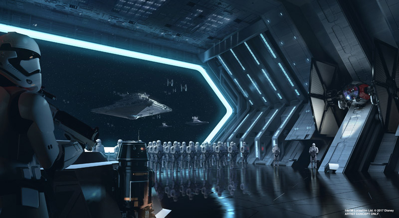 "The upcoming ""Star Wars""-themed lands will feature two anchor attractions, including one that puts guests right in the middle of a battle between the First Order and the Resistance."