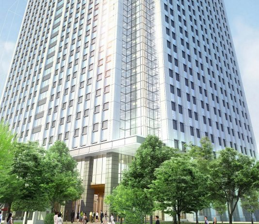 A rendering ofThe Tokyo EDITION, Toranomon.