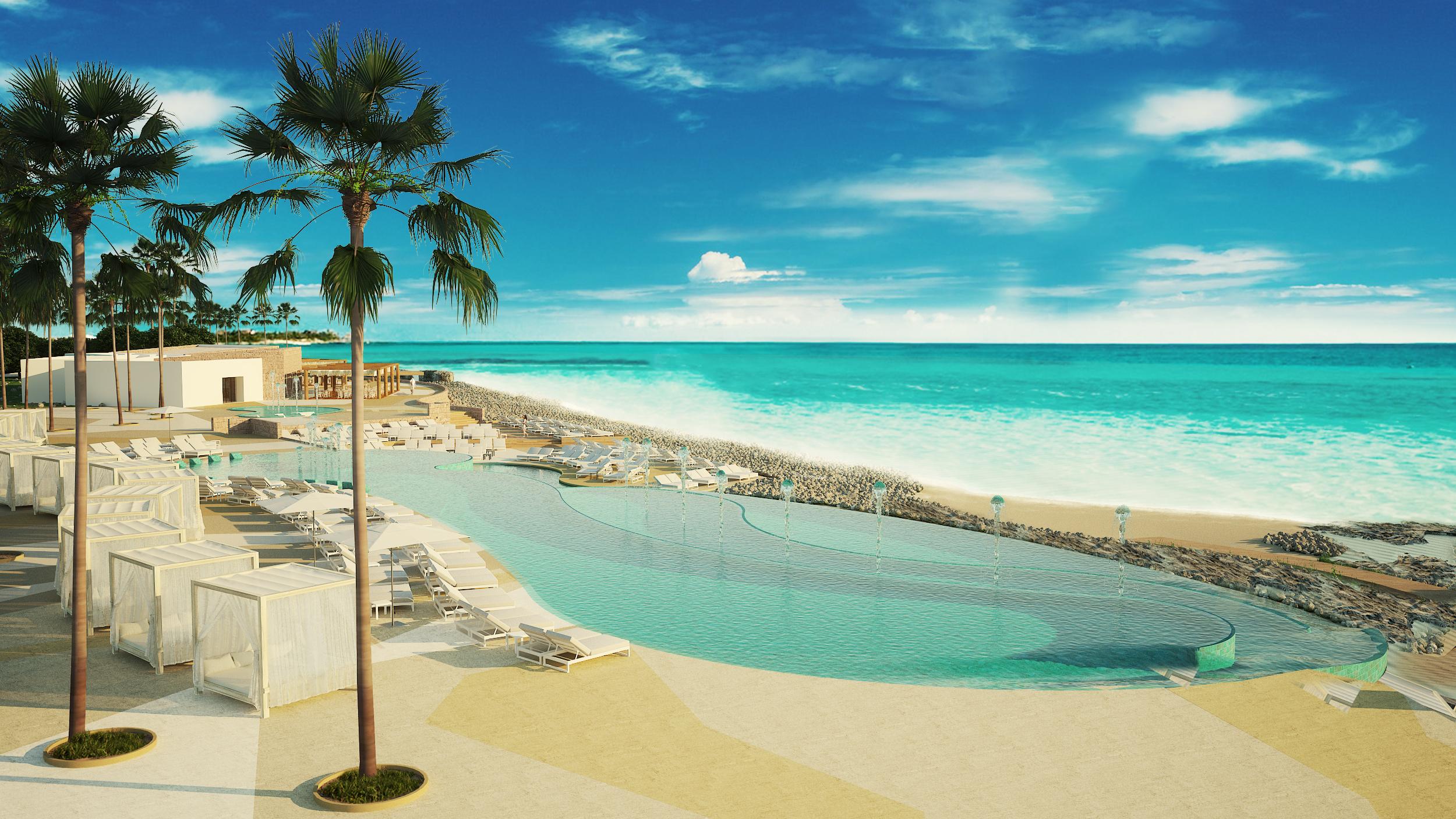 A rendering ofThe Royal Suites Yucatan Hotelin Riviera Maya.