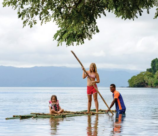 Exploring the surroundings at Jean-Michel Cousteau Resort in Fiji. (Photo courtesy of Jean-Michel Cousteau Resort.)