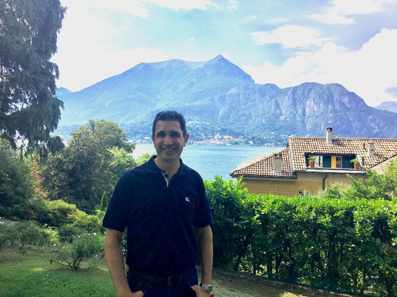 Josh in Lake Como.