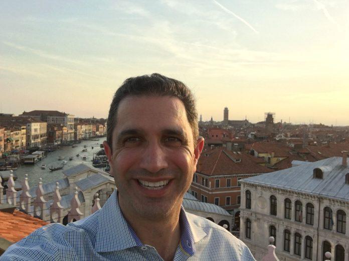 A selfie of Josh in Venice.