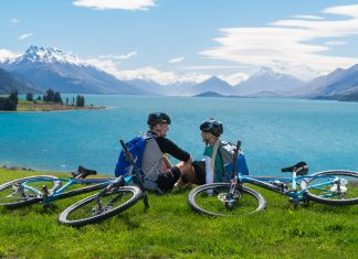 Around the Mountains Cycle Trail, Southland, New Zealand. (Photo credit: Tourism New Zealand)