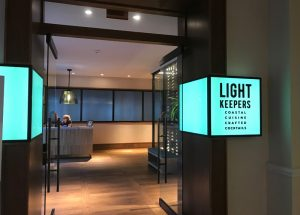 The entrance to Lightkeepers, the property's new restaurant.