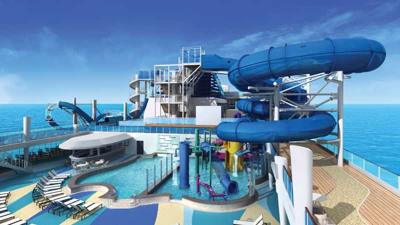 The Norwegian Bliss' Aqua Park will boasts two multi-story waterslides.