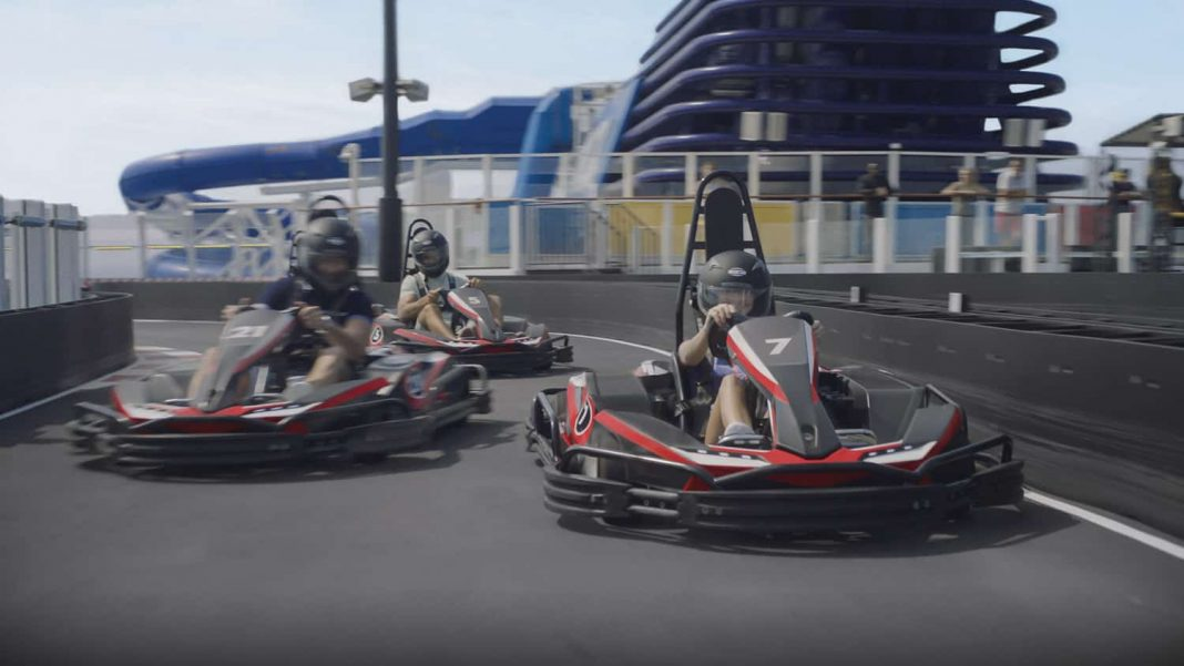 The Norwegian Bliss will feature the largestcompetitive racetrack at sea.