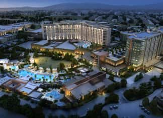 Exterior rendering of the Pechanga Resort & Casino in Temecula, California.