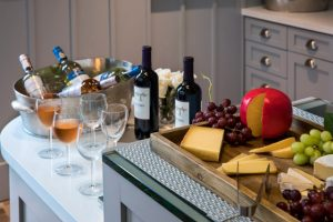 Daily complimentary wine and cheese happy hour on property. (Photo courtesy of The Julia.)