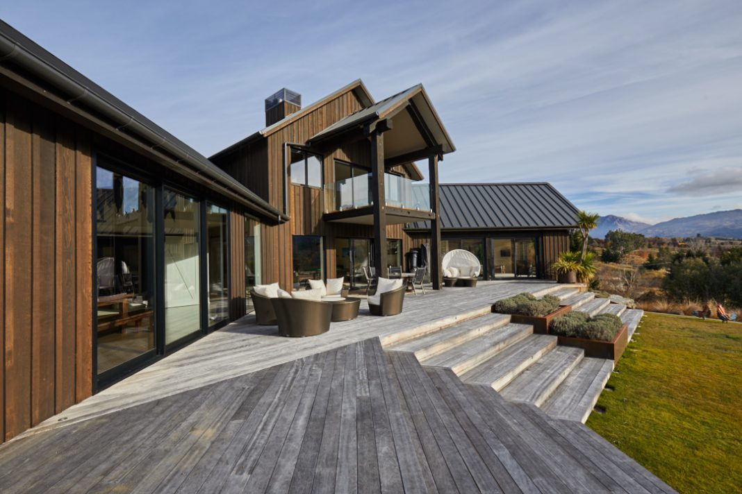 The front deck at the new Bron-Yr-Aur property. (Photo courtesy of Touch of Spice.)