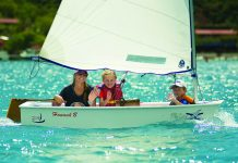 Sailing lessons at Bitter End Yacht Club in BVI.
