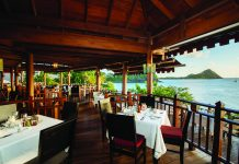 Cap Maison's The Cliff at Cap restaurant in Saint Lucia.