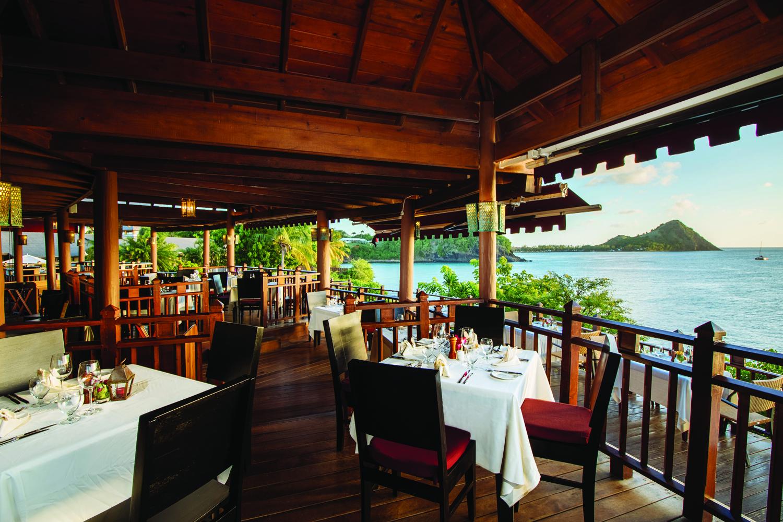 Cap Maison's The Cliff at Cap restaurant in Saint Lucia.