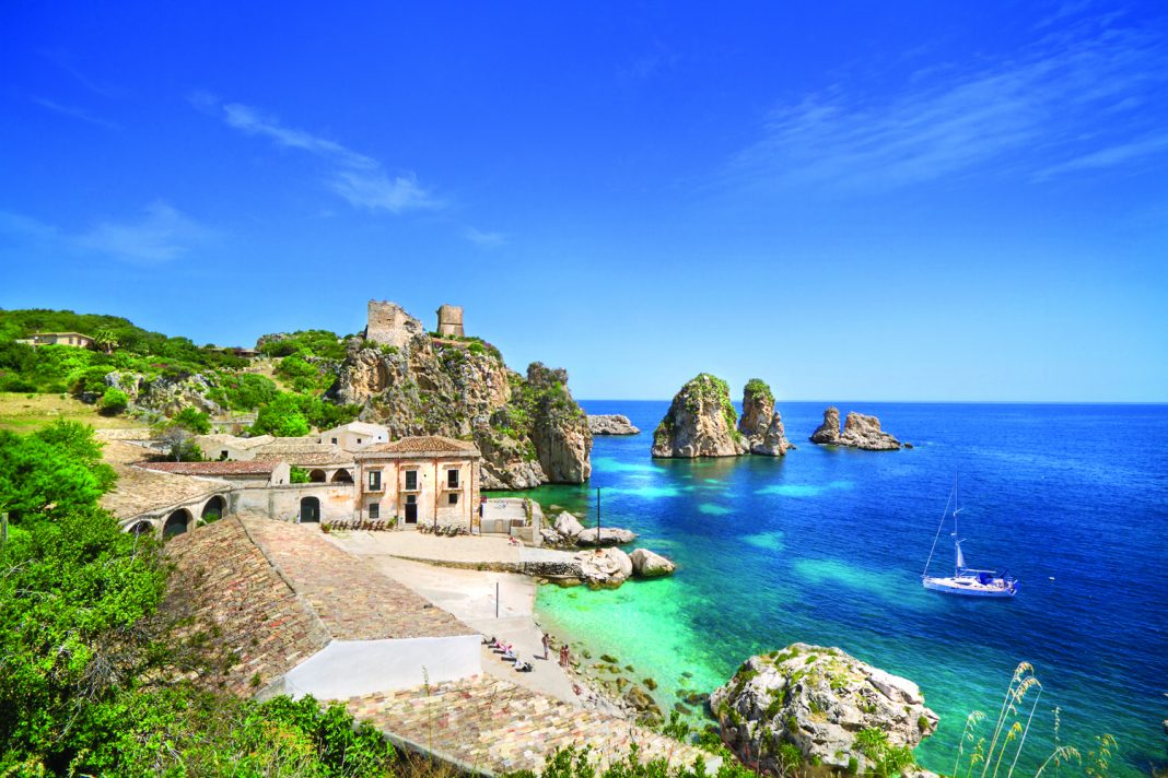 Tonnara di Scopello in Sicily.