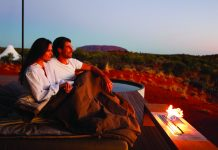 Longitude 131° is a luxurious wilderness camp in Australia.