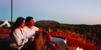 Longitude 131° is a luxurious wilderness camp in Australia.