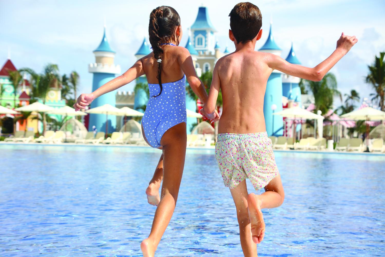 The resort has a unique playful landscape.
