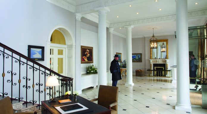 Front hall at The Merrion.