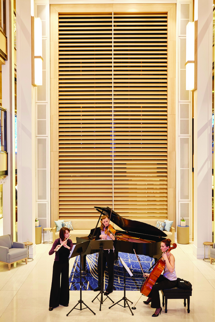 Concert in the atrium.