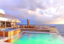 The infinity pool is one of many places on board passengers can sit back and relax.