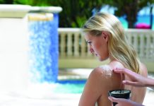 Outdoor massage at the Acqualina Resort & Spa in Florida.
