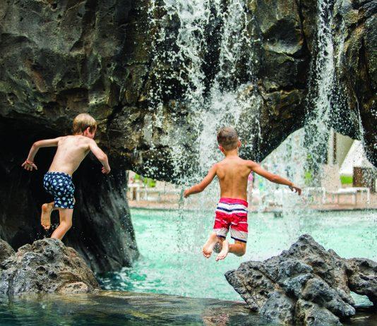 Water park complex at Wailea Beach Resort-Marriott, Maui.
