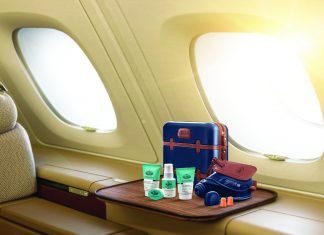 Qatar Airways is offering its First and Business Class passengers luxury amenity kits.