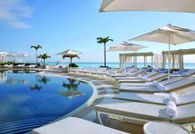 Poolside at the Sandos Cancun Lifestyle Resort.