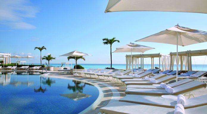 Poolside at the Sandos Cancun Lifestyle Resort.