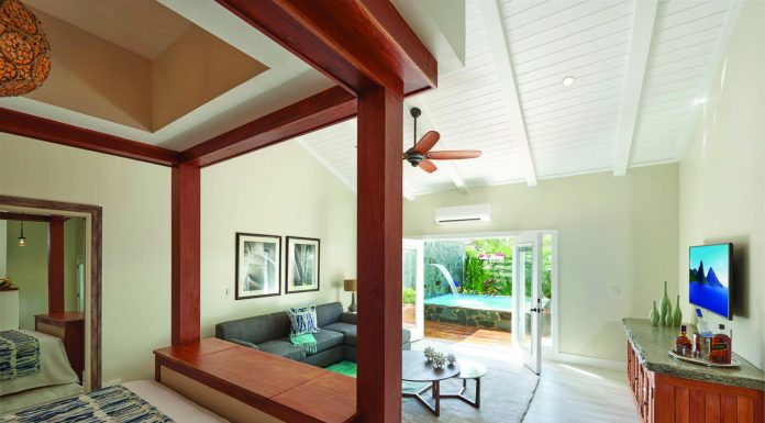 High-end accommodations at Serenity in Saint Lucia.