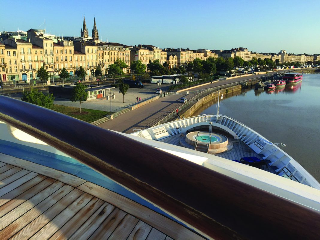 Star Legend docked in Bordeaux. (Laurel Herman)