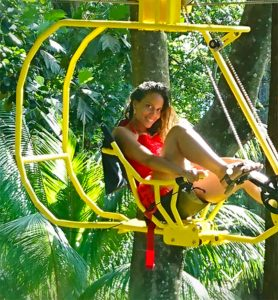 The bicycle zipline gives a new twist on this classic vacation activity.