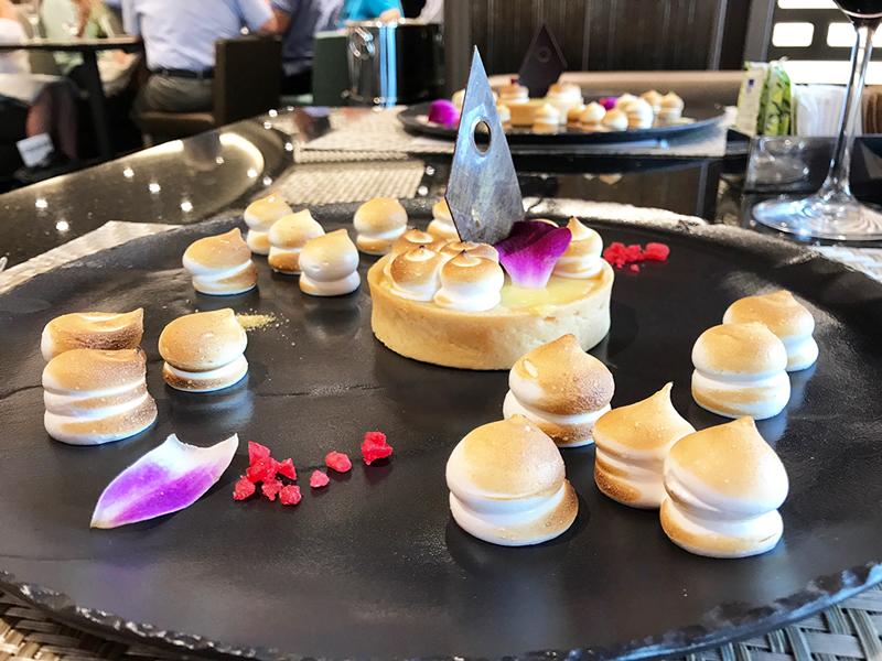 The lemon meringue pie was as delicious as it was artistic. (Photo credit: Jessica Poitevien)