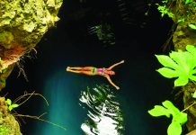 Visitors to Cancun can swim in the region's famed cenotes.