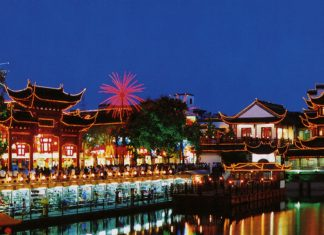Clients can take in the views of a Confucius temple on a river cruise in Nanjing.