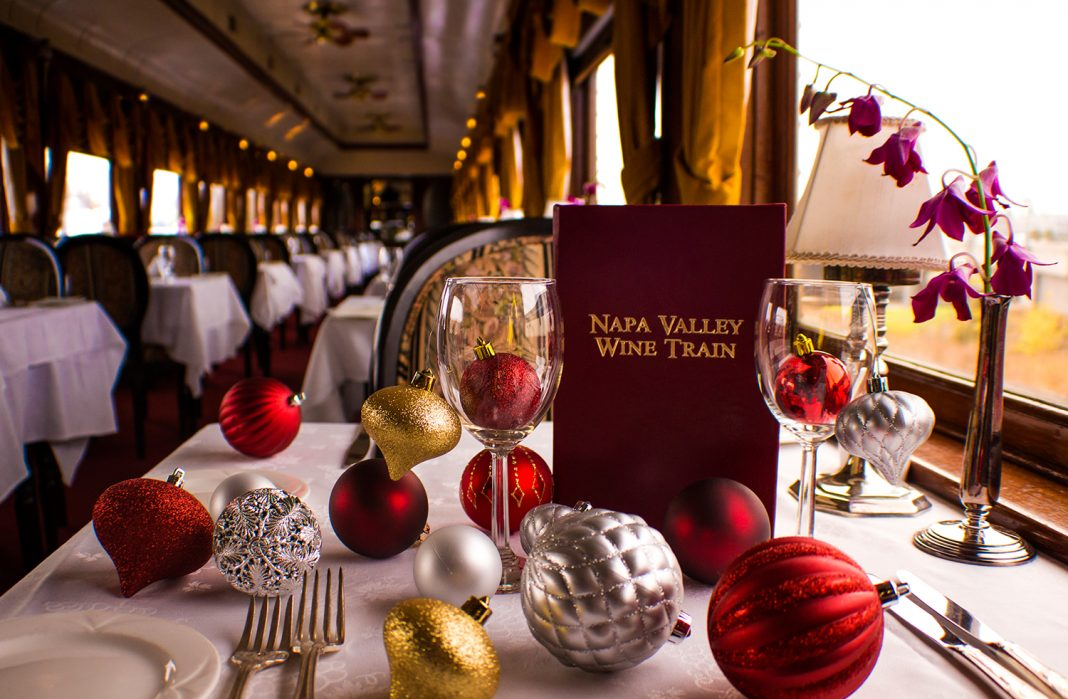 Guests can enjoy a ride on the Santa Train among many other holiday activities in Napa Valley.