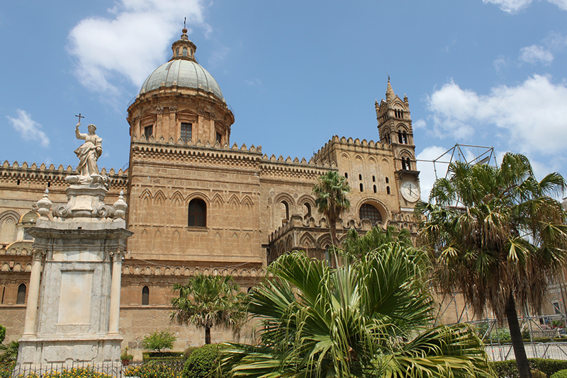 The cathedral of Palermo is a site to see while in Sicily.