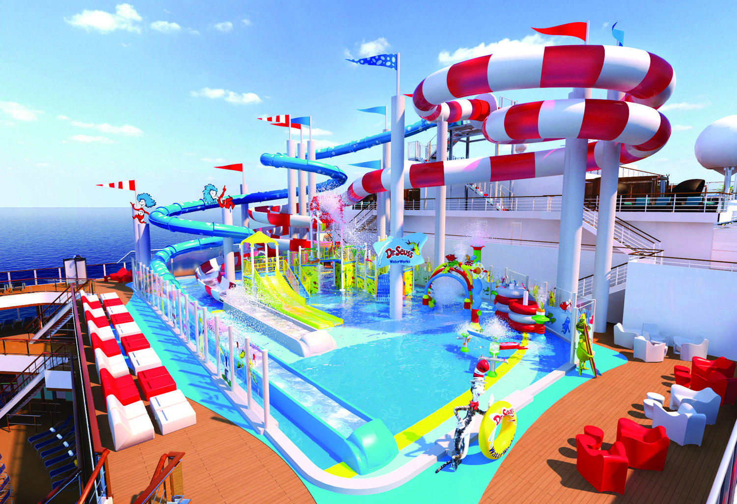 Dr. Seuss-themed water park will debut on board the Carnival Horizon.