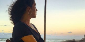 Clarissa taking in the view during her trip to Brazil.