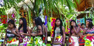 The Embera community shares its customs through music and dance. (Carla Hunt)