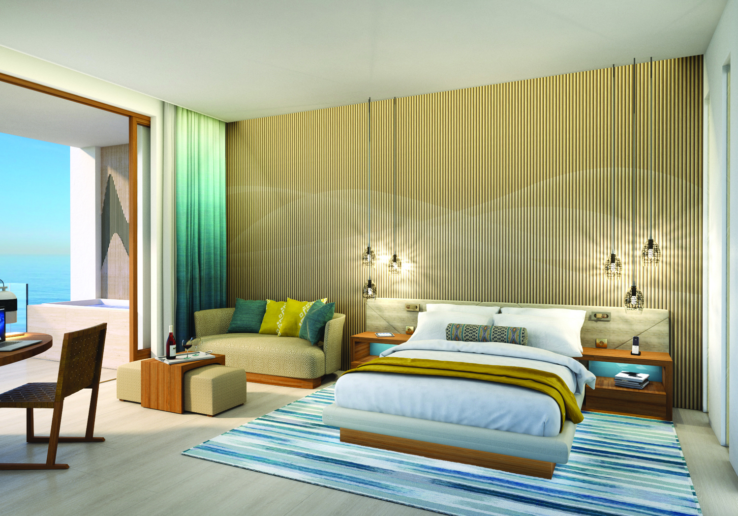 Rendering of accommodations at Hard Rock Hotel Los Cabos.