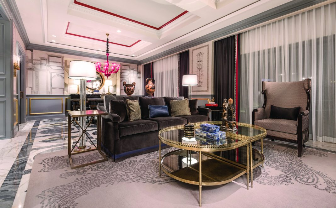 Newly revamped accommodations at Caesars Palace Las Vegas' Palace Tower.