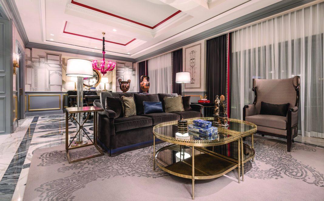 Newly revamped accommodations at Caesars Palace Las Vegas' Palace Tower.